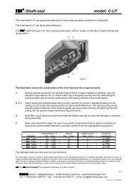 -Shaft-seal model: C-LF - Friedrich GmbH