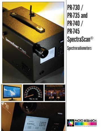 PR-740/PR-745 Brochure - Photo Research, Inc.