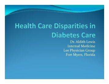 Healthcare Disparities in Diabetes Care