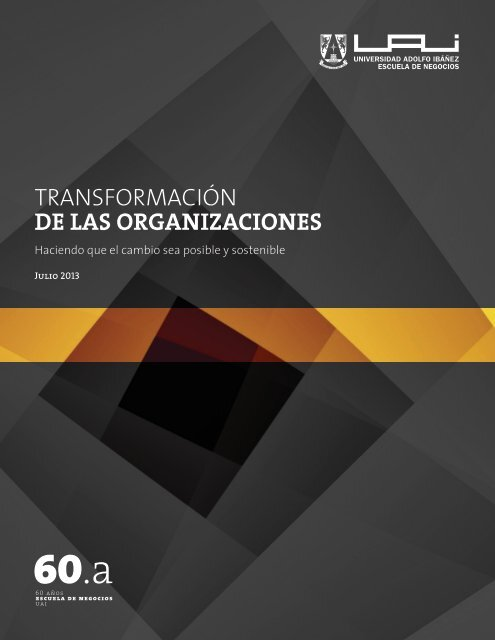 transformación de las organizaciones - Universidad Adolfo Ibañez