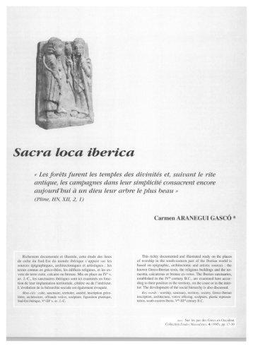 Sacra loca iberica - E-Corpus