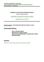 Zem a zemské zdroje Alternatívne zdroje energie ... - Fakulta BERG