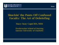 Shuckin' the Pants Off Confused Faculty: The Art of Debriefing