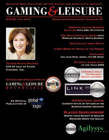 Fall 2012 Issue - Gaming & Leisure Magazine