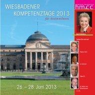WIESBADENER KOMPETENZTAGE 2013 - Heidi Mathias