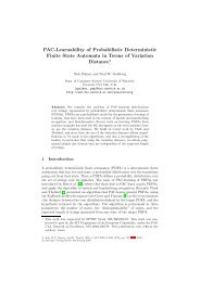 PAC-Learnability of Probabilistic Deterministic Finite State Automata ...