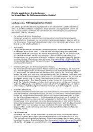 Leistungen der Anthroposophischen Medizin - Gesundheit-Aktiv