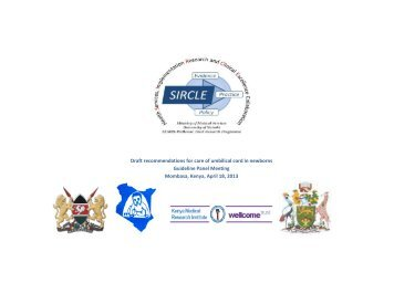 Draft recommendations for care of umbilical cord in ... - iDOC Africa