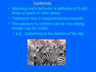"Conformity • Adjusting one""s behavior or attitudes to fit with those of ..."