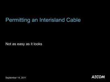 Permitting an Interisland Cable