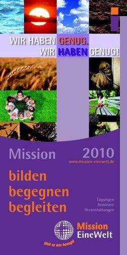 Themen - Mission Einewelt