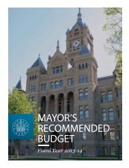 Mayor's Recommended Budget Fiscal Year 2013-14