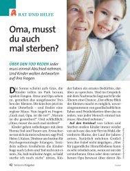 Oma, musst du auch mal sterben? - Lavia - Institut für ...