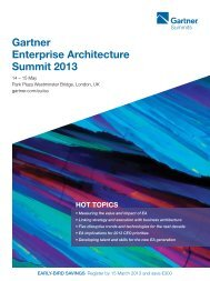 Gartner Enterprise Architecture Summit 2013