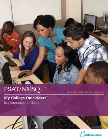 My College QuickStart™ Implementation Guide - For Professionals