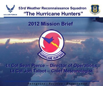 The Hurricane Hunters - U.S. National Response Team (NRT)
