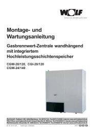 Montageanleitung CGW - Wolf (Schweiz) AG