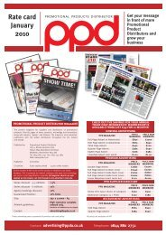 Rate card January 2010 - PPD Magazine
