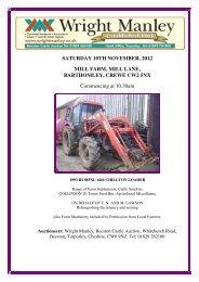 SATURDAY 10TH NOVEMBER, 2012 MILL FARM ... - Wright Manley