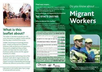 2011-11-10 Mythbusting Migrant Leaflet web - Suffolk County Council
