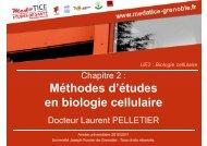 Méthodes d'études en biologie cellulaire - Université Virtuelle Paris 5