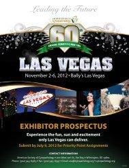 Exhibitor Prospectus - 61st Annual Scientific Meeting