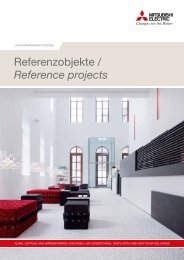 Referenzbroschüre Shops - Mitsubishi Electric