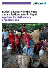Budget advocacy for the water and sanitation sector in ... - WaterAid