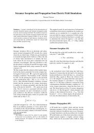 Streamer Inception and Propagation from Electric Field ... - SCEE 2012