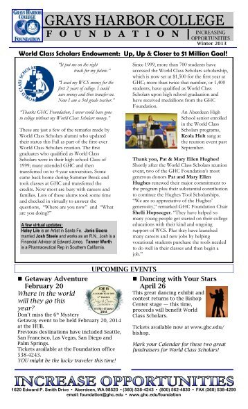 Foundation Newsletter - Grays Harbor College