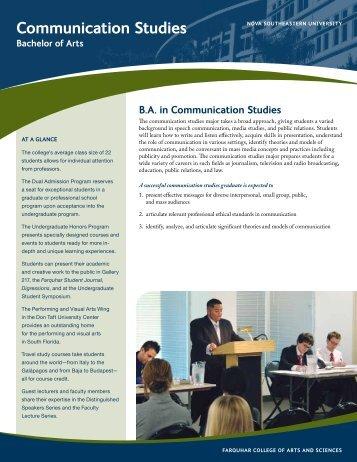Communication Studies - College of Arts and Sciences - Nova ...