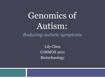 Genomics on Autism - COSMOS