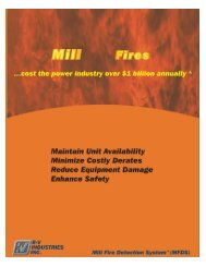 Mill Fire Detection System Literature - RV Industries