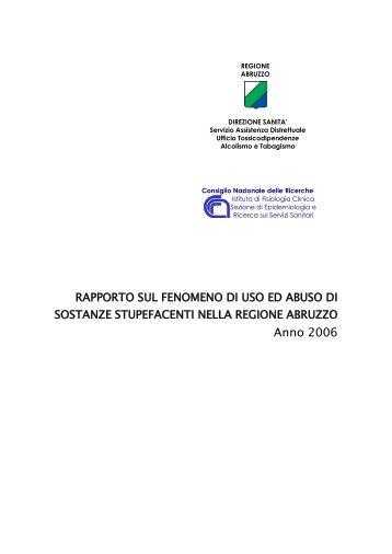 Anno 2006 - Portale Sanità Abruzzo - Regione Abruzzo
