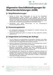 Allgemeine Geschäftsbedingungen für ... - Steuerberaten.de