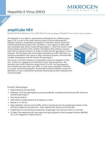 ampliCube HEV Hepatitis E Virus (HEV) - Mikrogen