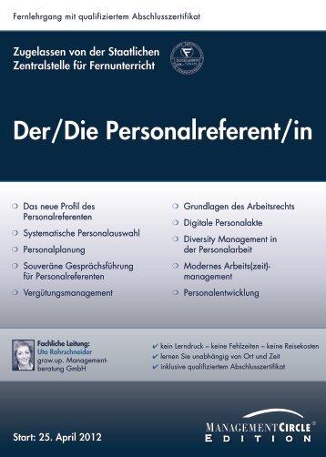 Fernlehrgang: Der/Die Personalreferent/in - Management Circle AG
