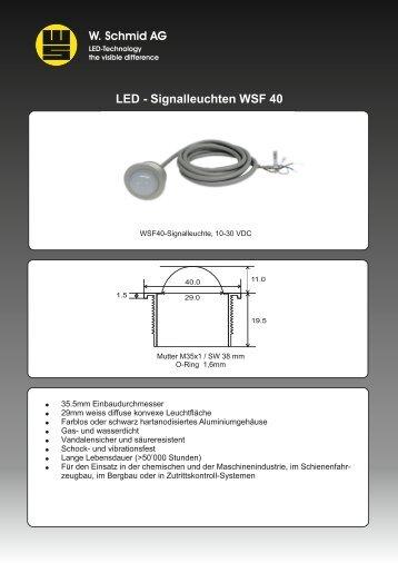 LED - Signalleuchten WSF 40