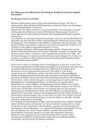 Die Allianz gegen eine differenzierte Darstellung der ... - Klaus J. Bade