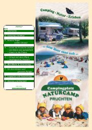 NATURCAMP Prospekt - Urlauber-Tipp.de
