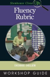 Fluency Rubric Close-up VG.qxp - Stenhouse Publishers