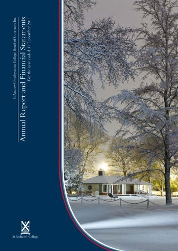 Annual Report and Financial Statements - St Andrew's College
