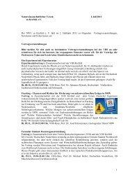 Naturwissenschaftlicher Verein 1.Juli 2013 zu Krefeld. e.V. Der NWV ...