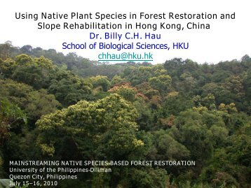 Using Native Plant Species in Forest Restoration ... - Rainforestation
