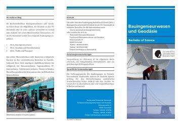 Flyer zu B.Sc. Bauingenieurwesen und Geodäsie - Fachbereich ...