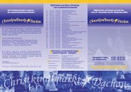 flyer 2009.cdr - Christkindlmarkt Dachau eV