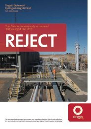Target's Statement by Origin Energy Limited Your Directors ...