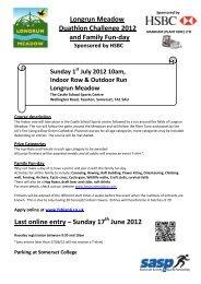 Longrun Meadow Duathlon Challenge 2012 and Family Fun-day ...