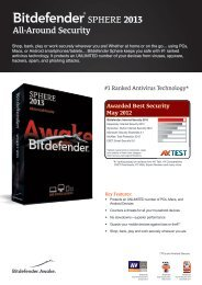 SPHERE 2013 - Bitdefender