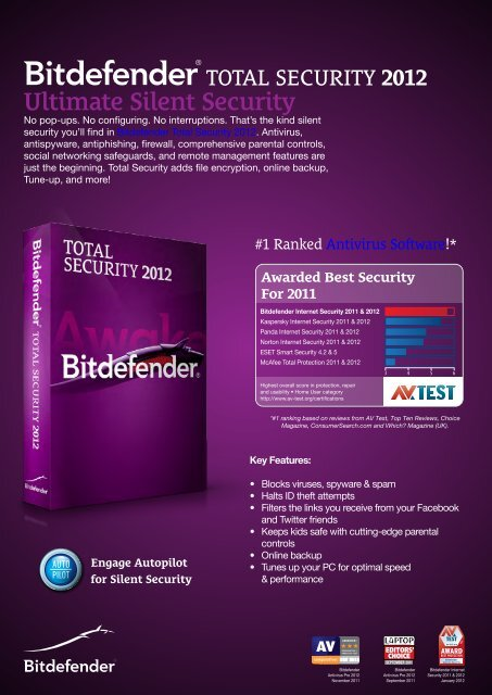 Ultimate Silent Security - BitDefender